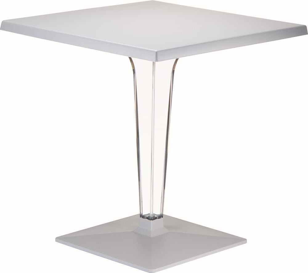 Pedestal table with transparent column