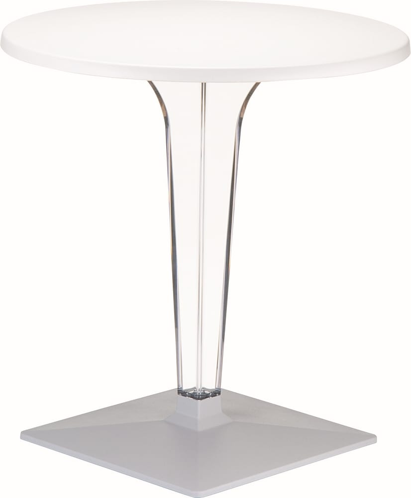 Table with transparent column