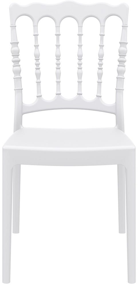 White Parisian chair