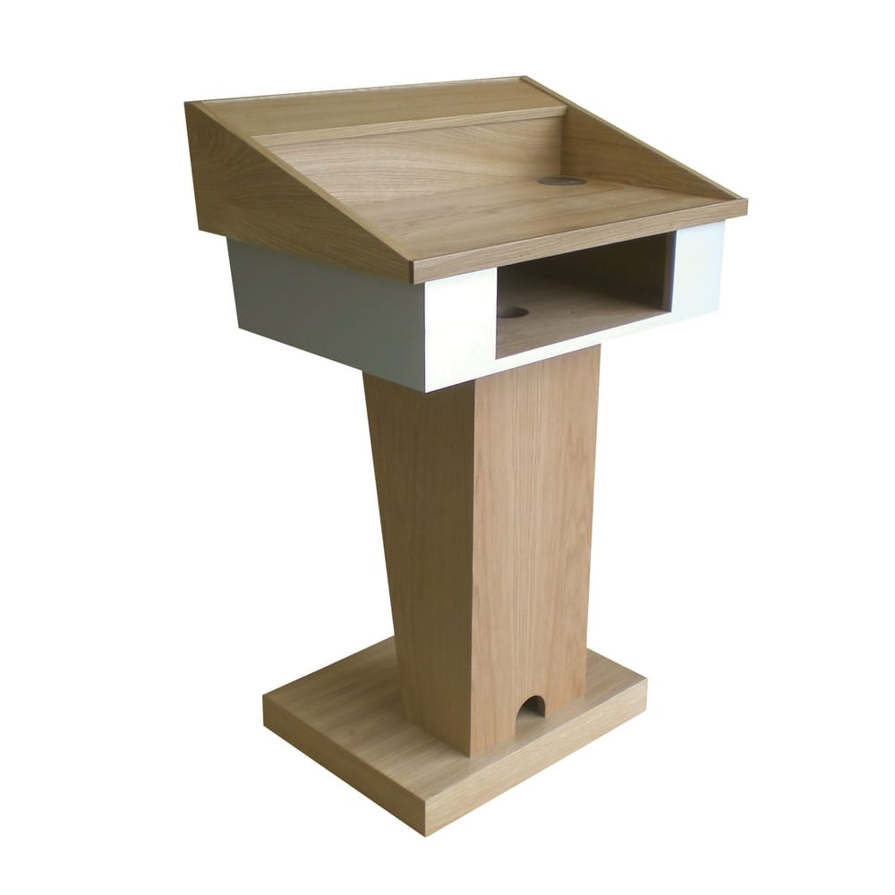 Wood lectern for conference