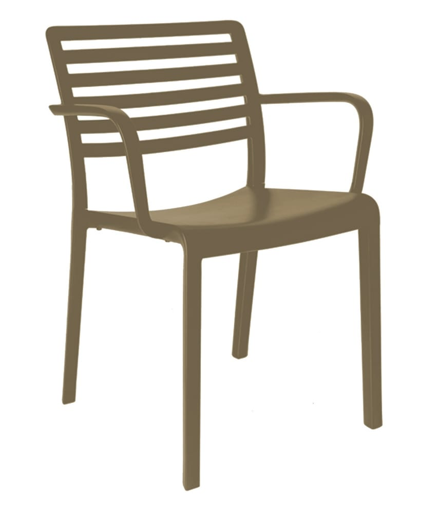 Stacking chair with arms