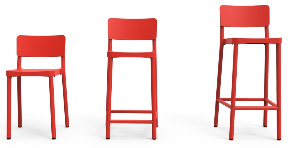 High and low stools