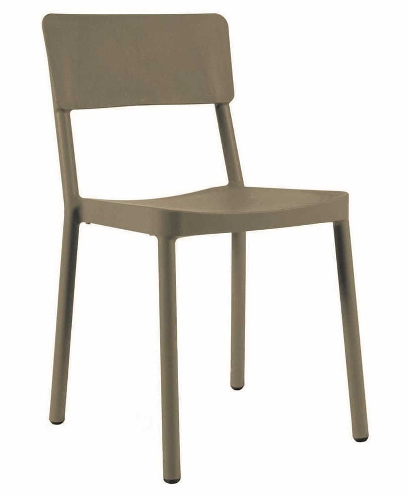 Outdoor side chair in coloured polypropylene