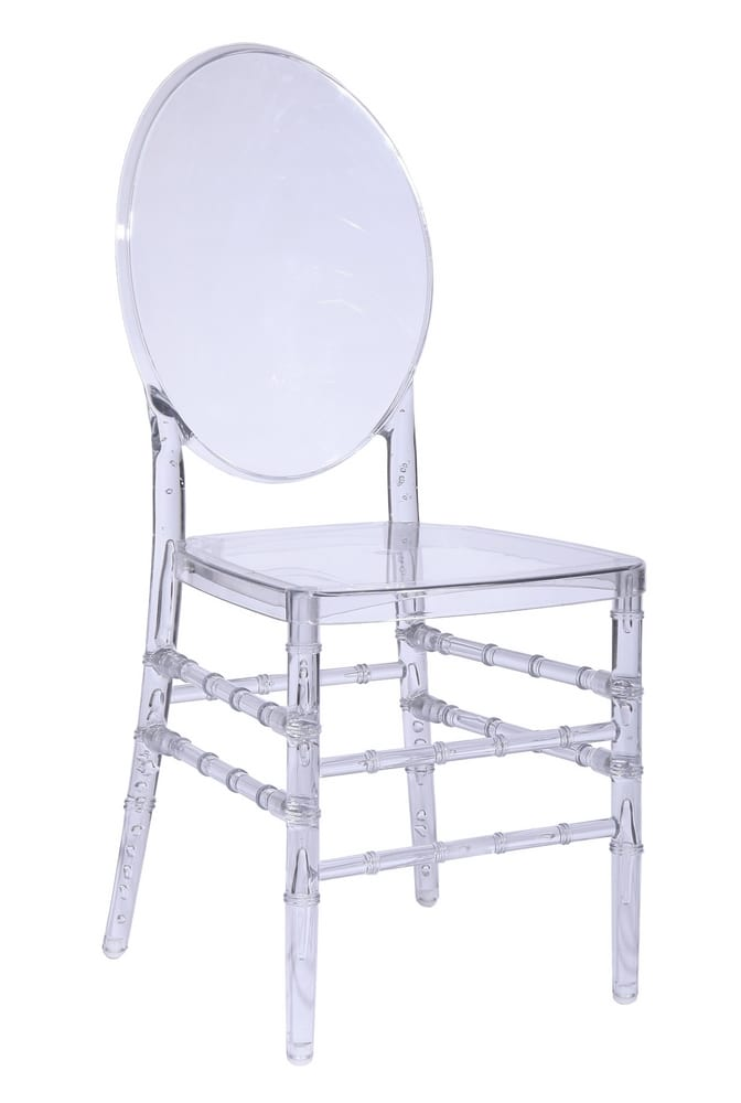 Clear polycarbonate chair