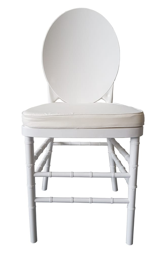 White polycarbonate chair