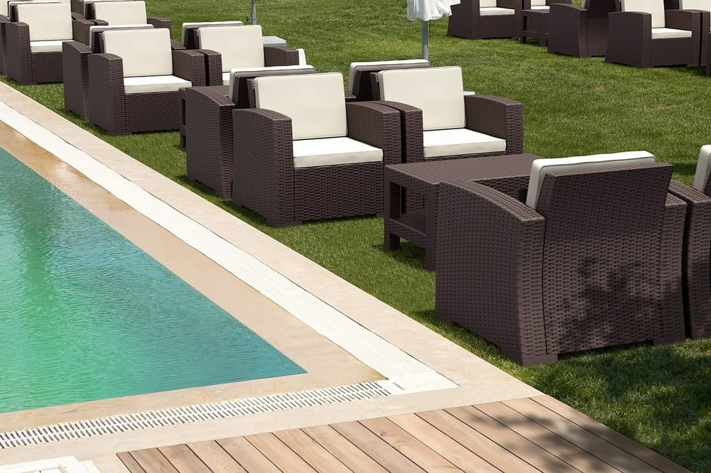 Outdoor armchairs for pool