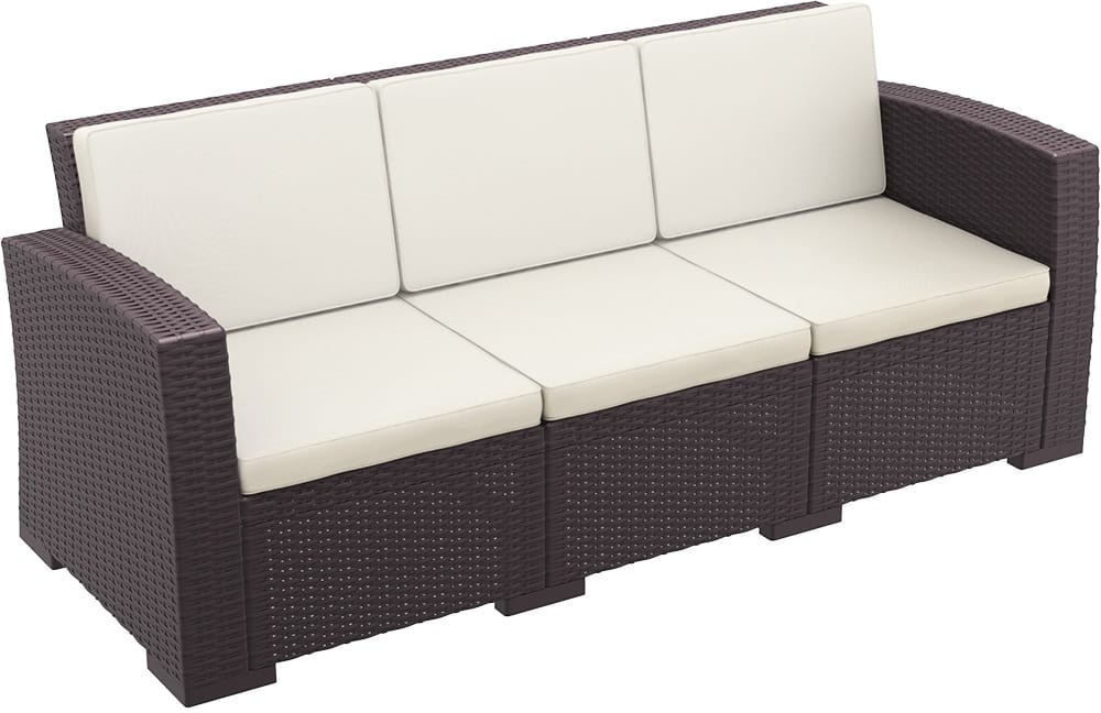 Outdoor three-seater sofa
