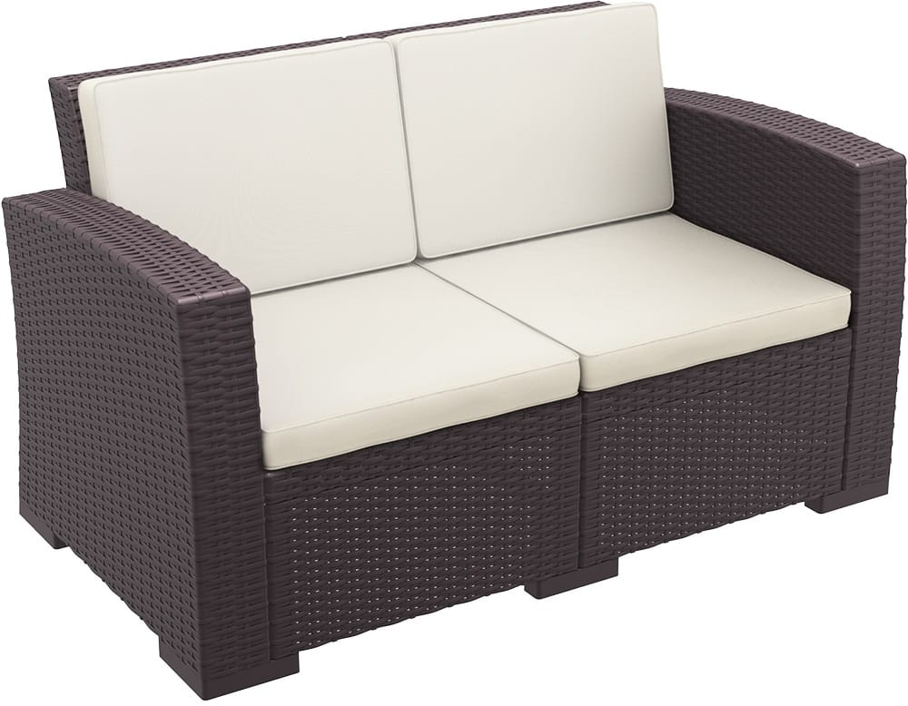 Outdoor two-seater sofa
