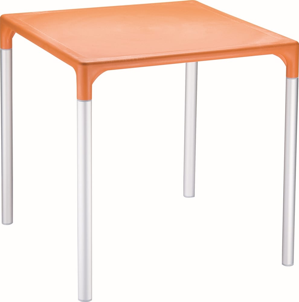 Outdoor table with aluminium legs