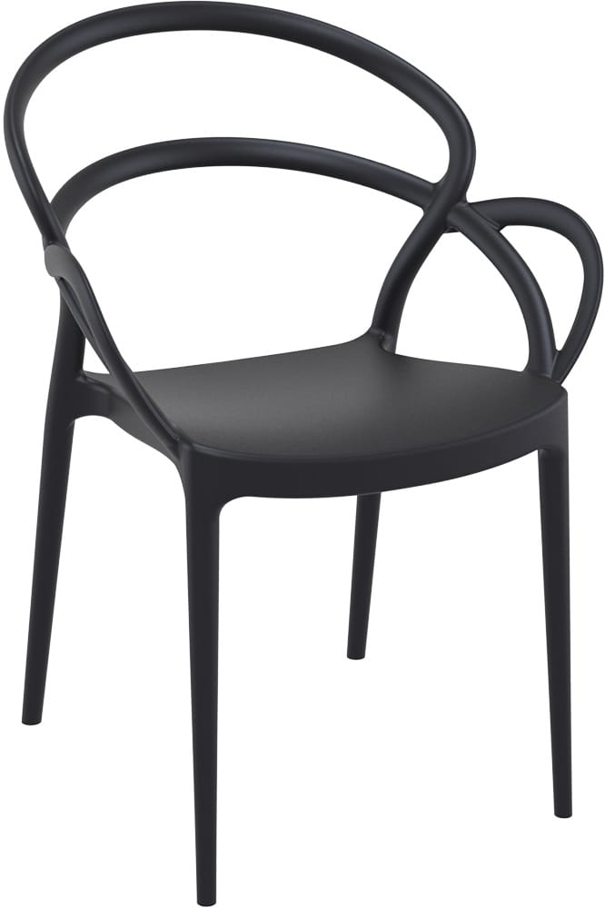 Designer chair in black plastic