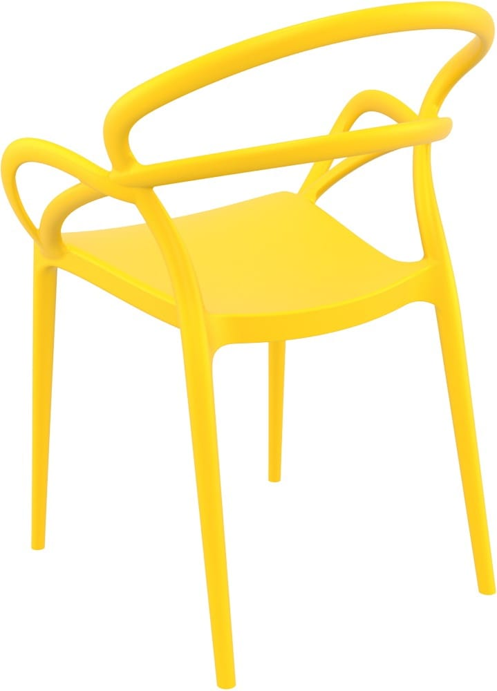 Outdoor design chair with arms