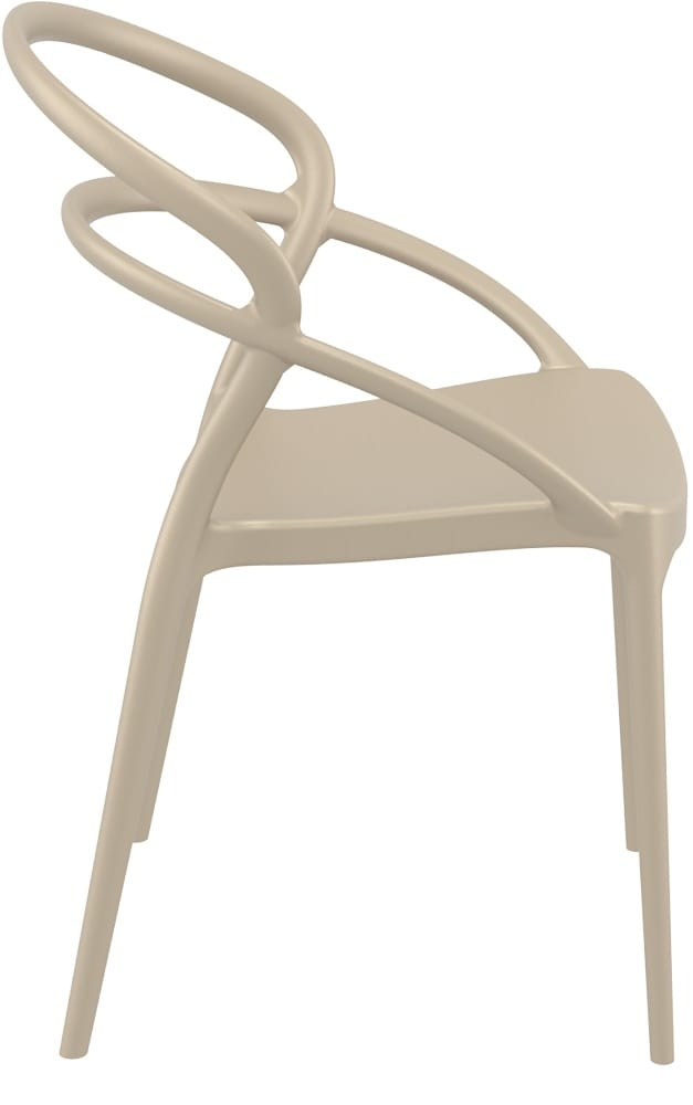 Taupe designer chair