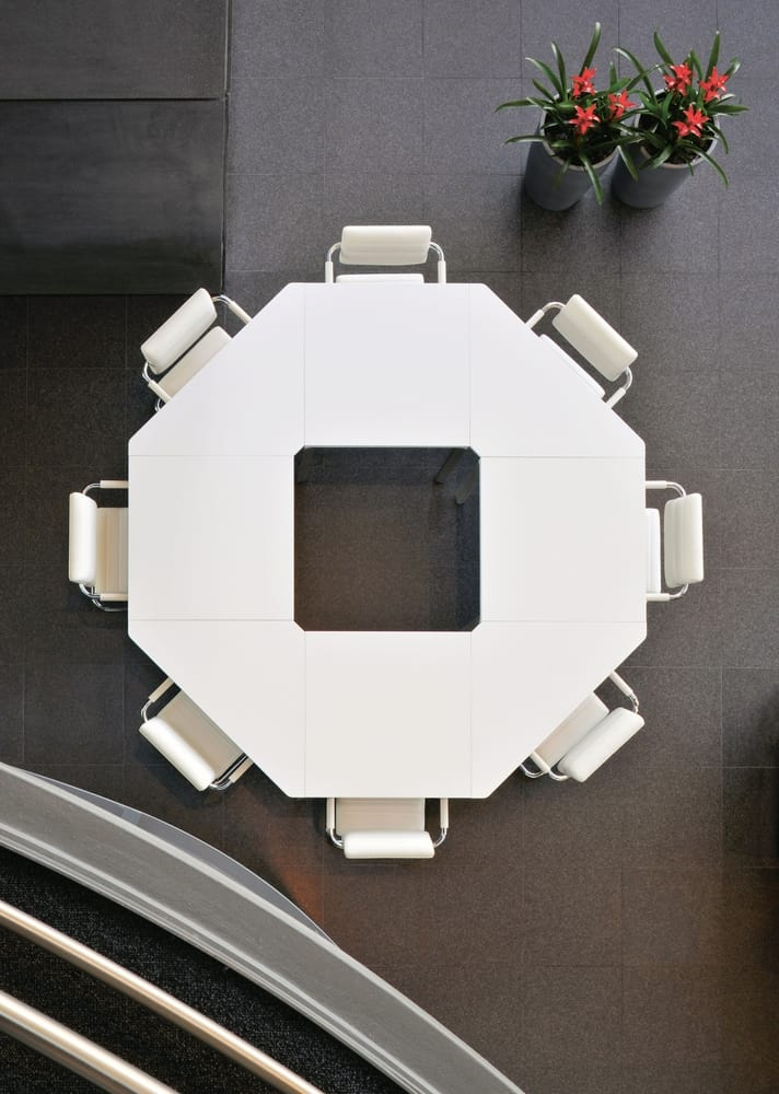 Octagonal meeting table