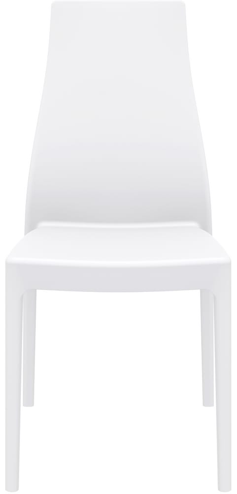 Chair in white or coloured plastic