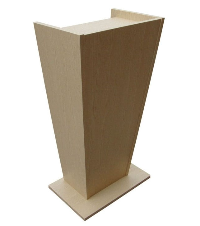Wood lectern for conferences