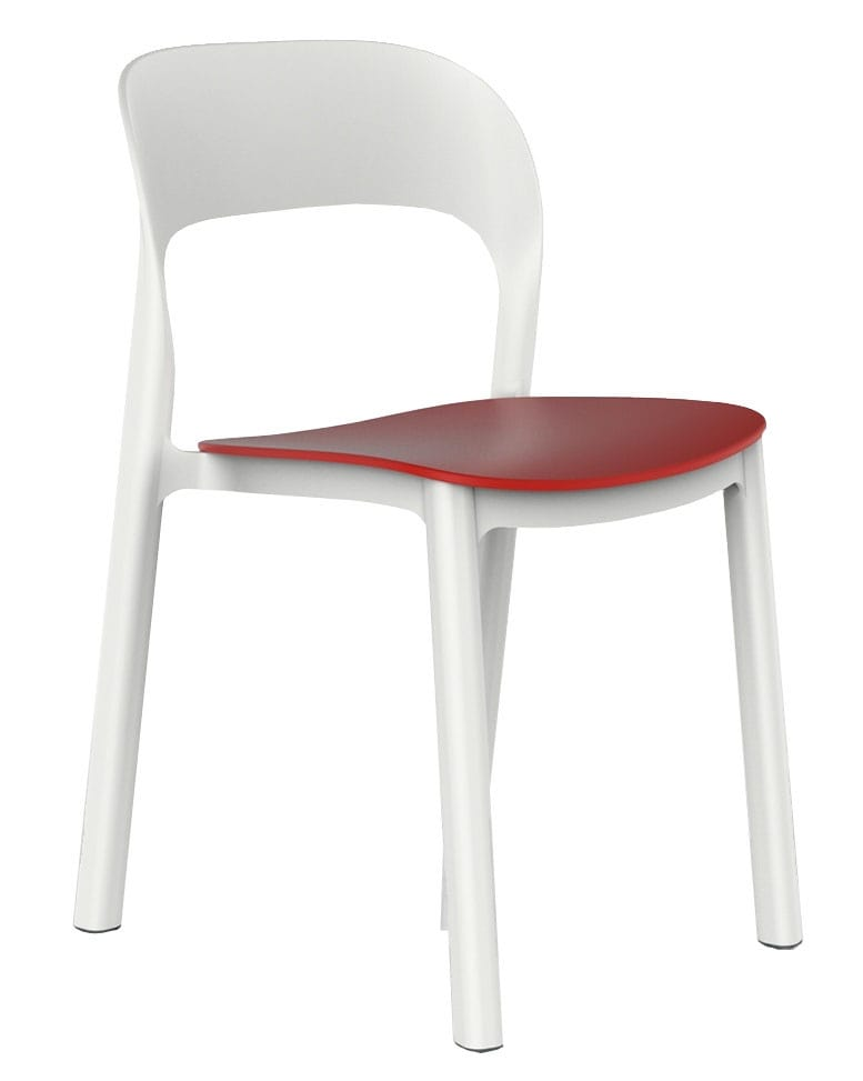 Side chair without arms for outdoors