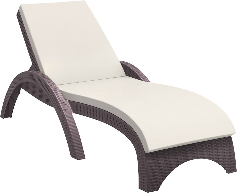 PALMA-L - Resin sun lounger on wheels
