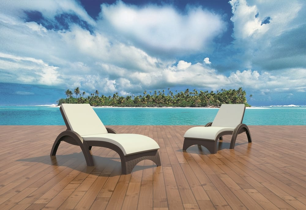 Sun loungers for terraces