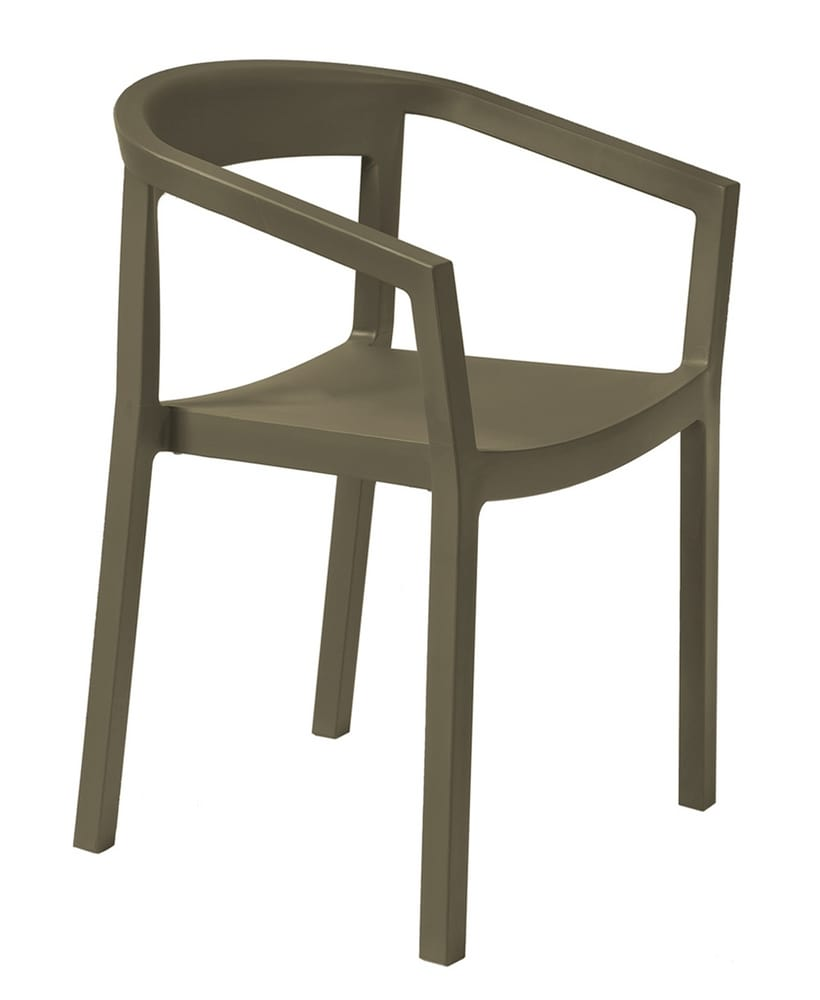 Chair in chocolate polypropylene