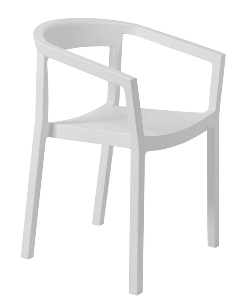 Outdoor white chair with arms