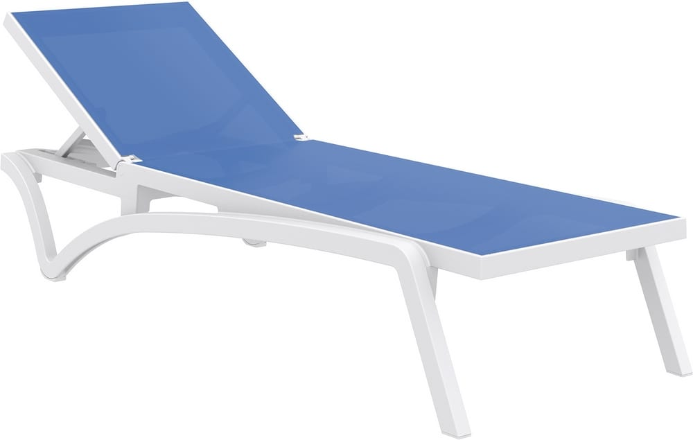 Stacking sun lounger with breathable fabric