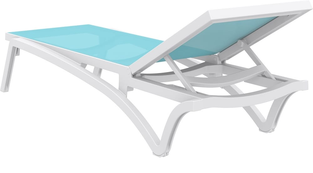 Sun lounger with reclining backrest