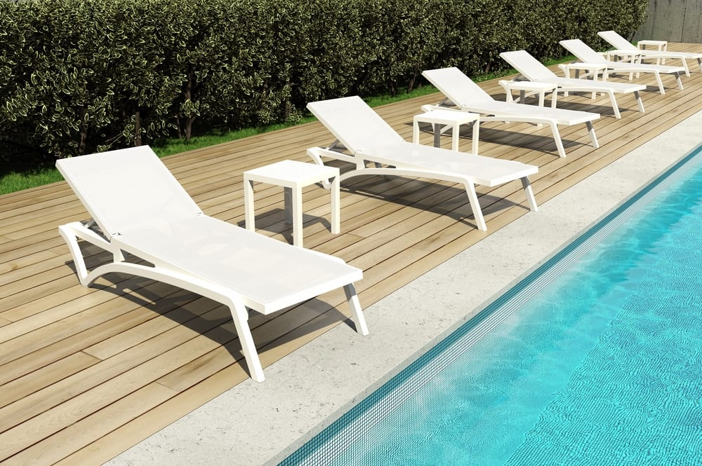 Sun loungers for pools