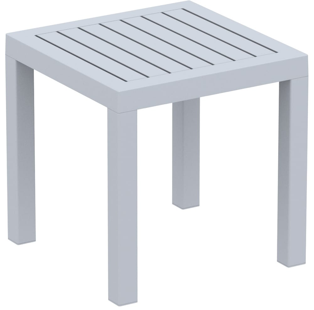PIPER-TS - White resin outdoor side tables