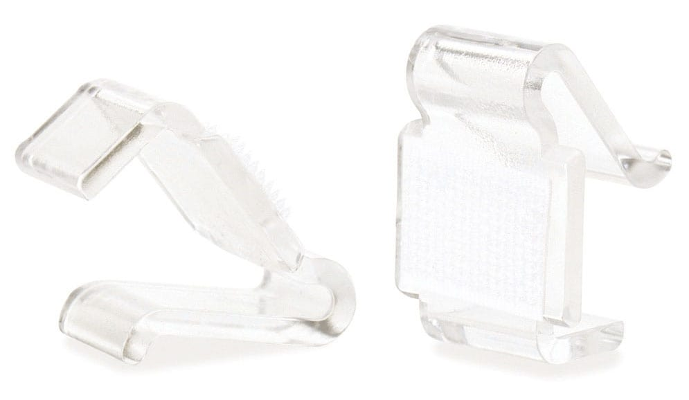 Transparent clip woth velcro