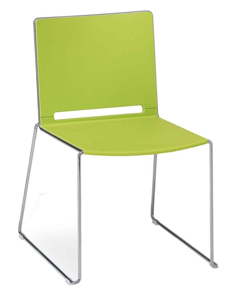 Chair with polypropylene seat and backrest