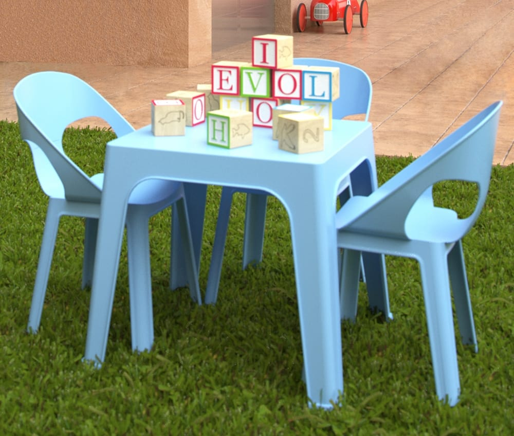 Chairs and table for kids