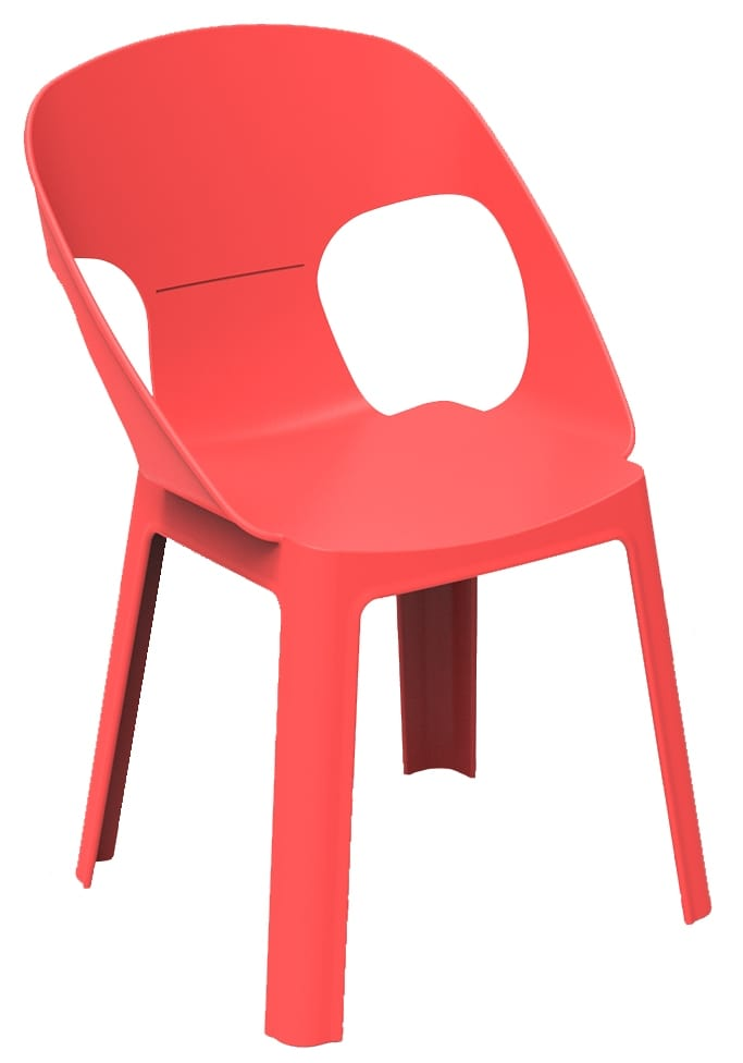 Stacking plastic chair for nursery school