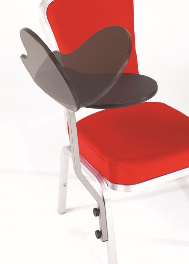 Chair with folding tablet