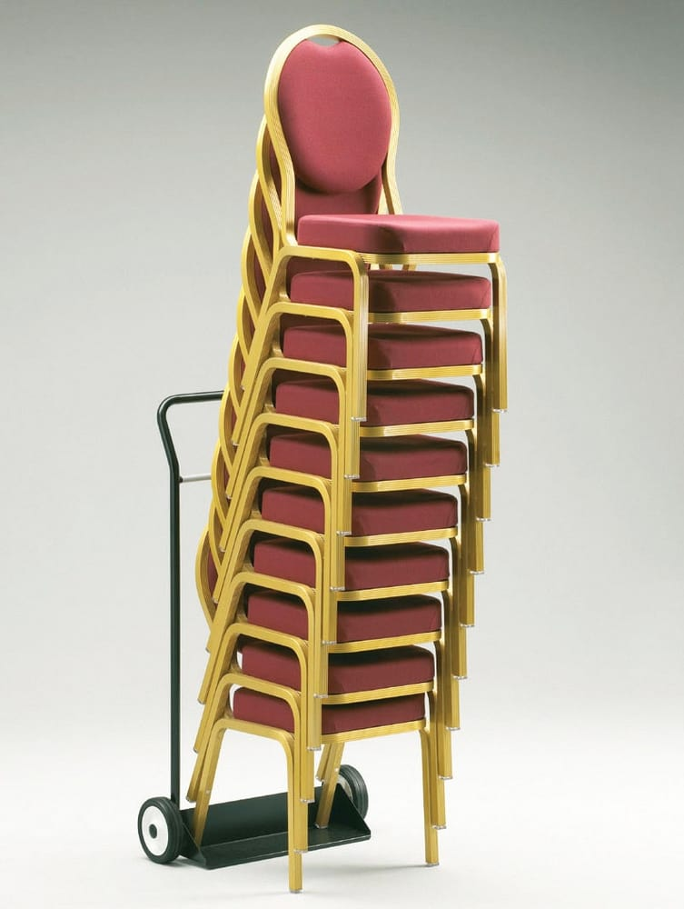 Stack of chairs with trolley