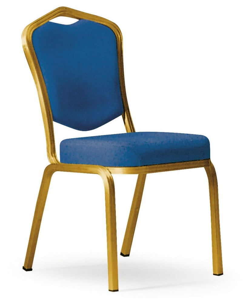 Upholstered aluminium chair