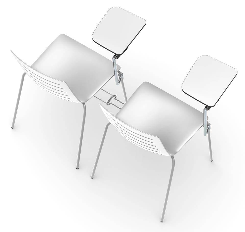 Chairs with writing tablet