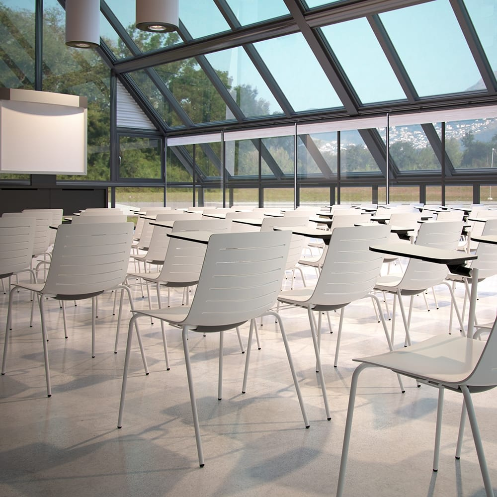 Conference chairs with folding tablet