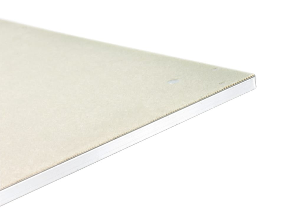 Aluminium edge for rectangular tables