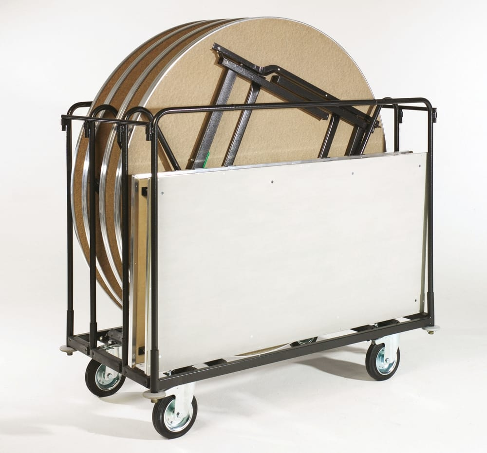 Trolley for round and rectangular tables