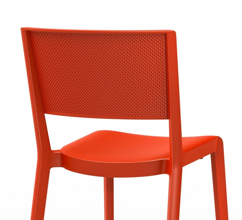 Chair with perforated backrest