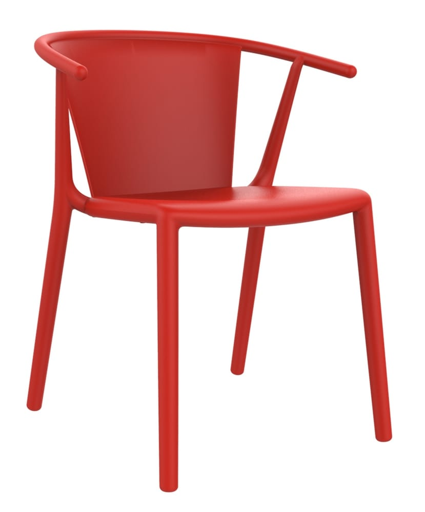 Stacking designer chair with arms