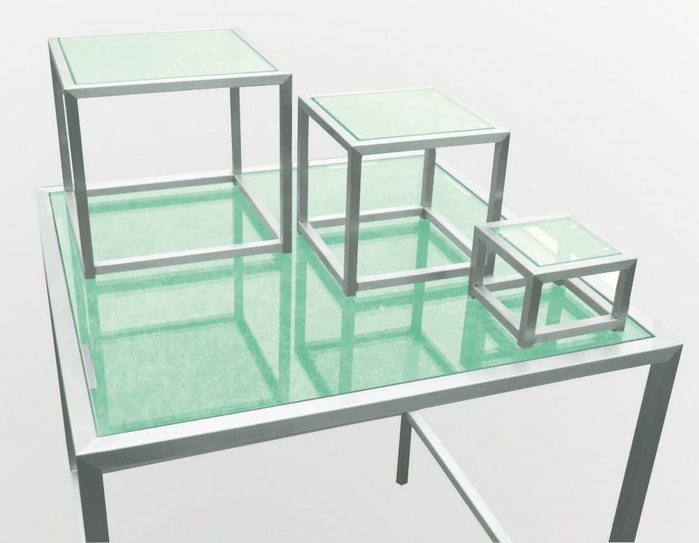 Table with elevation dishes