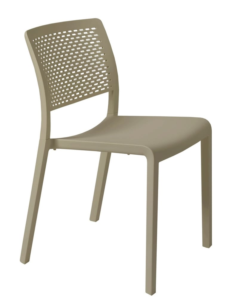 TARA - Outdoor stacking chairs with or without arms