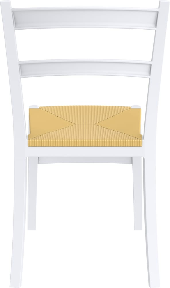 Chair with straw imitation seat