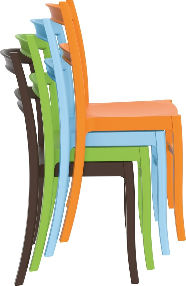 Colored stackable chairs