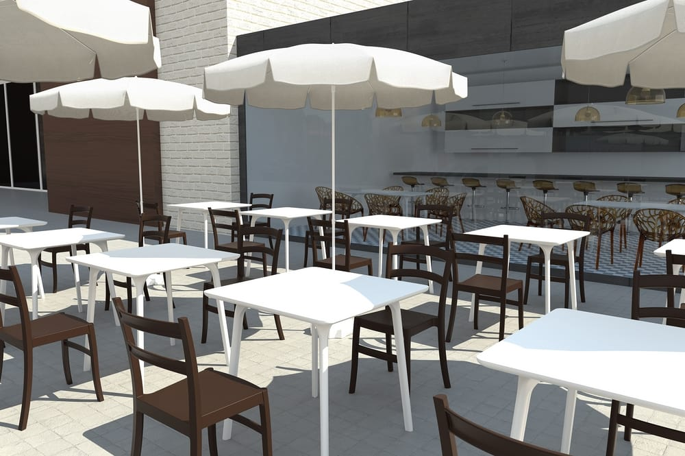 Outdoor chairs for bars