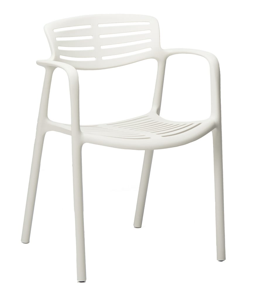 White Chair With Arms. Design Plastic Chairs