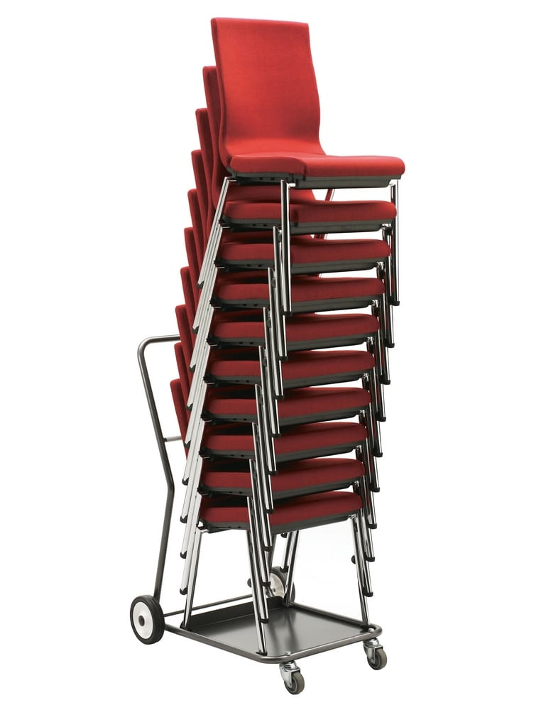Trolley for conference chairs